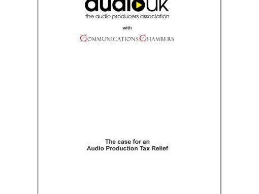 New AudioUK report shows an Audio Production Tax Relief would attract increased investment and benefit the UK economy